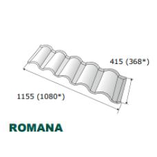 """Композитная черепица ☰ """"Metrotile Romana"""""""