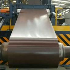 Рулонная Листовая Оцинкованная Сталь ( Полимерным Покрытием RAL 8017 matt) - 0,45 мм Китай