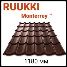 Ruukki Monterrey - Финская металлочерепица (Руукки Монтеррей)  0,45 мм полиестр глянец