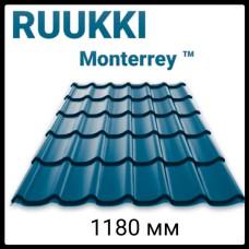 Металлочерепица Ruukki 0,45 мм Монтеррей синяя RR 35 глянец 25 мк 20 лет