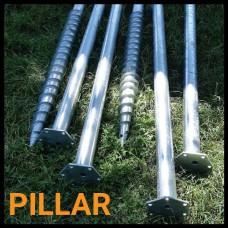 Геошуруп PILLAR - FH 76x3mm x 2500 мм t1050мм горячеоцинкованный