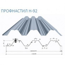 Профнастил Т 92 Несущий Оцинкованный 1 мм Завод