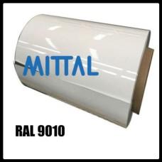 Гладкий лист RAL 9010 • 0,88 мм • ширина 1500 мм • ArcelorMittal •