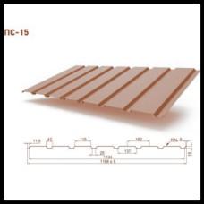 Профнастил ПС 15 • RAL 8017 • Matt • 0,45 mm • OptimaSteel