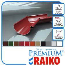Поворот ринви внутрішній Raiko 125/90 темно-коричн 135°