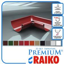 Поворот ринви внутрішній Raiko 125/90 темно-коричн 90°