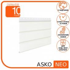 Панель ASKO NEO біла без перфорації 3.5 м, 1.07 м2