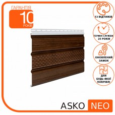 Панель ASKO NEO дуб темний перфорована 3.5 м, 1.07 м2