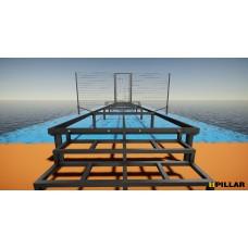 Проектирование подсистем для пирсов, террас, навесов, беседок на оцинкованных геошурупах PILLAR.