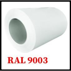 Рулонная сталь – гладкий лист с полимерным покрытием 0,5 мм 9003