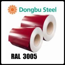 RAL 3005 — 0,7 мм | Гладкий Лист |