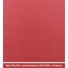 RAL 3011 | Гладкий лист — 0,45 мм с полимерным покрытием TM