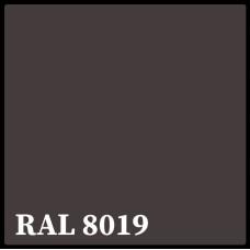 Листовая сталь 0,45 мм с полимерным покрытием - TEZCAN ( Турция ) RAL 8019