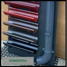 Желоб водосточной системы Forostina | 128 мм | RAL 8019