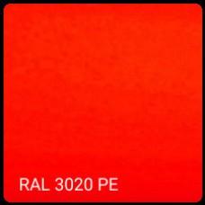 RAL 3020 - 0.5 мм Гладкий лист Метипол