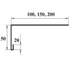 L планка для кровли (50*150) Ruukki 0.45 PE.
