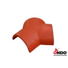 Соединитель тройной ONDO Terracotta (терракотовый)
