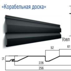 Металлосайдинг 0.4 мм Тёмный дуб корабельная доска  PRINTECH Корея  завод Термастил