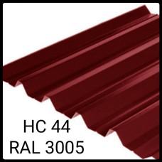 Профнастил НС-44   0,45 мм   Мегасити   RAL 3005 PEMA   Южная Корея