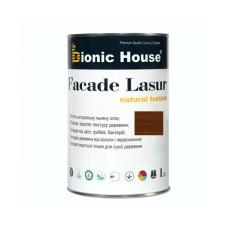 Маслосодержащий антисептик для дерева FACADE LASUR | 1 л | Орех А-110 | Bionic-House |