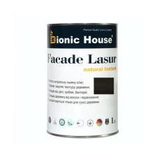 Лессирующий антисептик для дерева FACADE LASUR | Bionic-House | 1 л | Черное дерево А-120