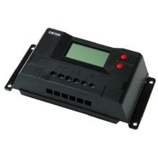 Контроллер 30А 12В/24В с дисплеем + USB гнездо (Модель-CM30D)