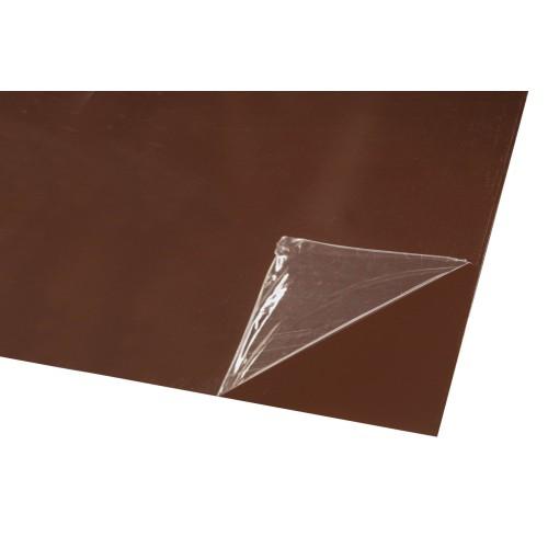 Гладкий лист стальной крашенный оцинкованный - 0,4 мм Китай RAL 8017 (шоколадно коричневый)