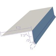 Карнизная планка оцинкованная 0,45 мм  - капельник для плоских кровель