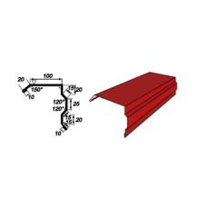Ветрозащитная кровельная планка  RAL 8017 0,5 мм РЕ 25