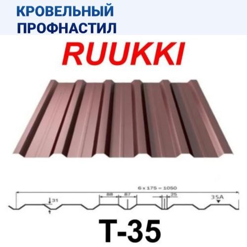 Профиль кровельный Т 35-88-1050 Ruukki 0,5 | RR | 887 | 32 | CROWN BT