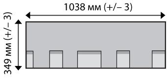 Размер листа  черепицы Айко кэмбридж экспрес