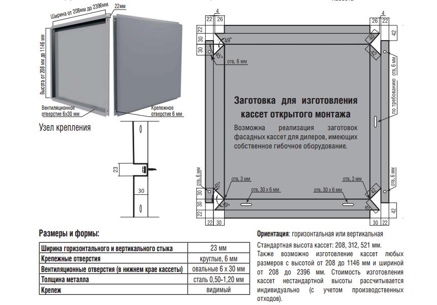 Изготовление фасадных кассет Классик - Термастил