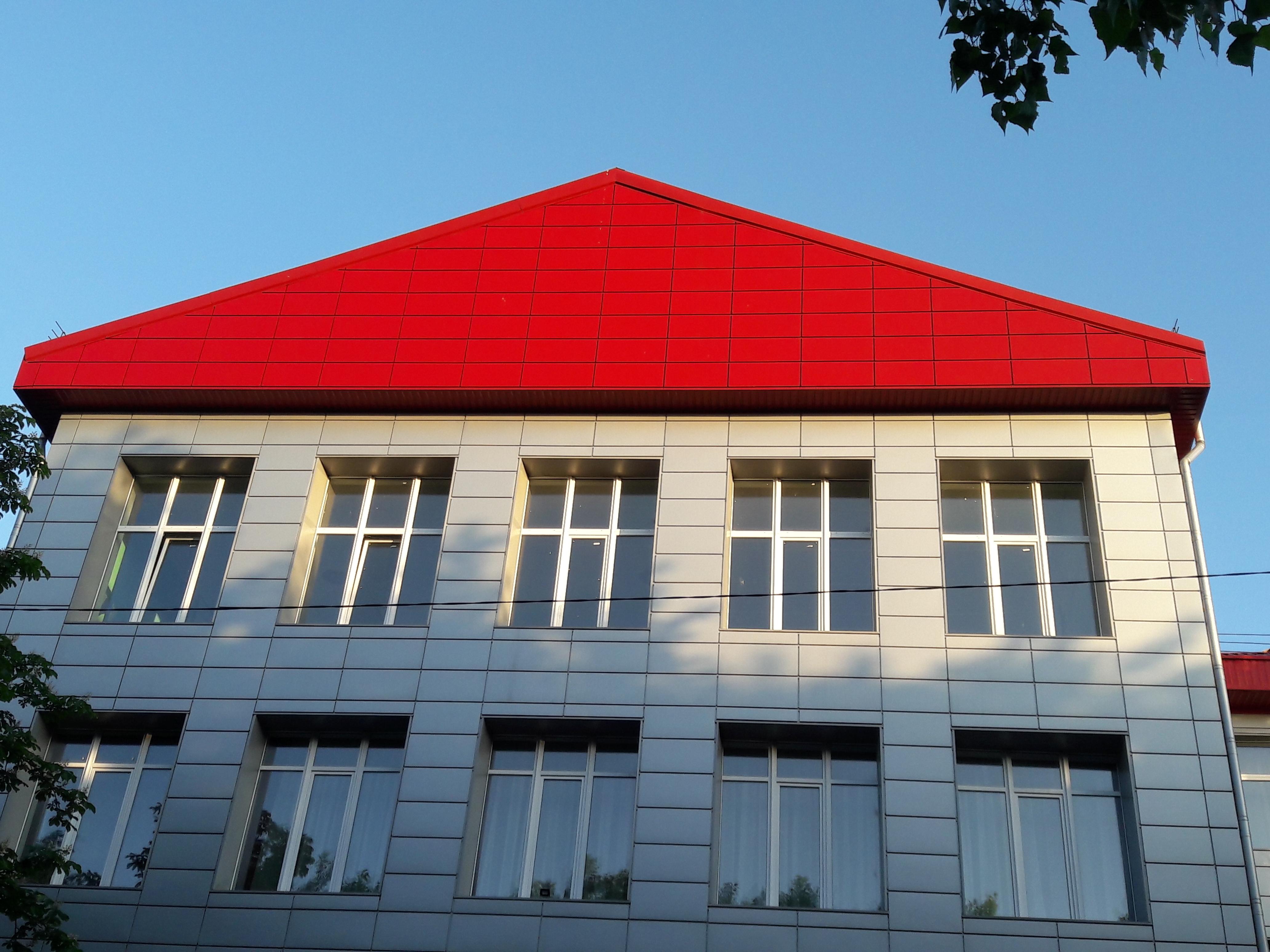 Кассеты Фасадные Классик (RAL 3011 глянец) 0,7 мм 475*475 мм