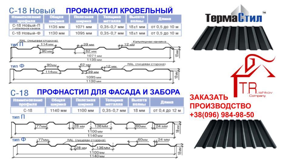 """Профнастил С-18""""Термастил"""" ▩ (Полтава)"""